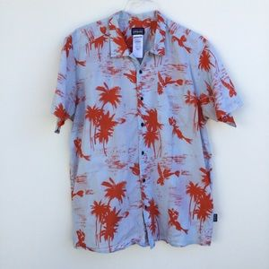 Patagonia Palm Button Down Short Sleeve Shirt L